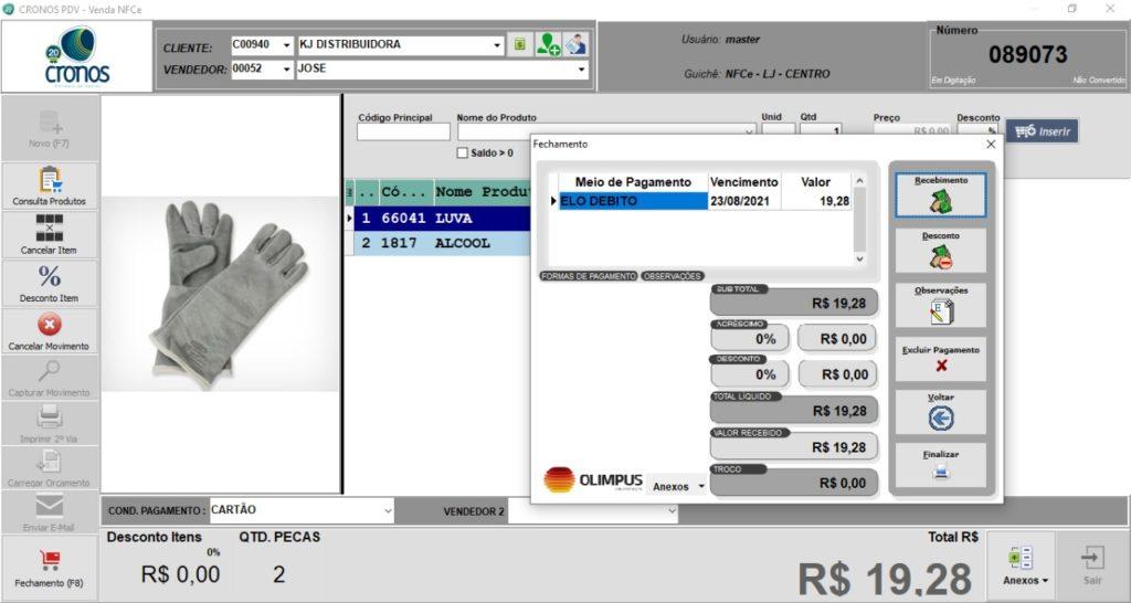 ERP CRONOS PDV - NFCe