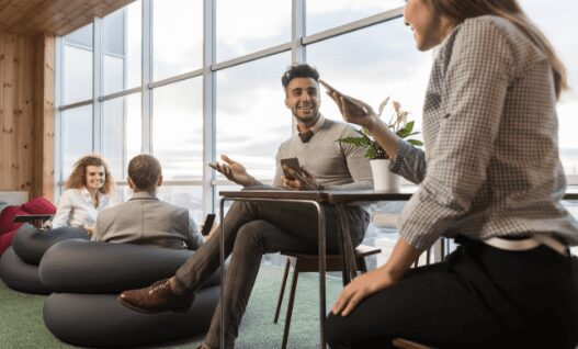 businesspeople group in coworking center coworkers 3MBUR8A e1628184701917